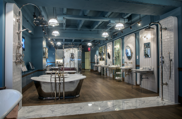 The Drummonds showroom in the A&D building houses and displays a number of Drummonds collections including tubs, basins, brassware, bathroom accessories and ...